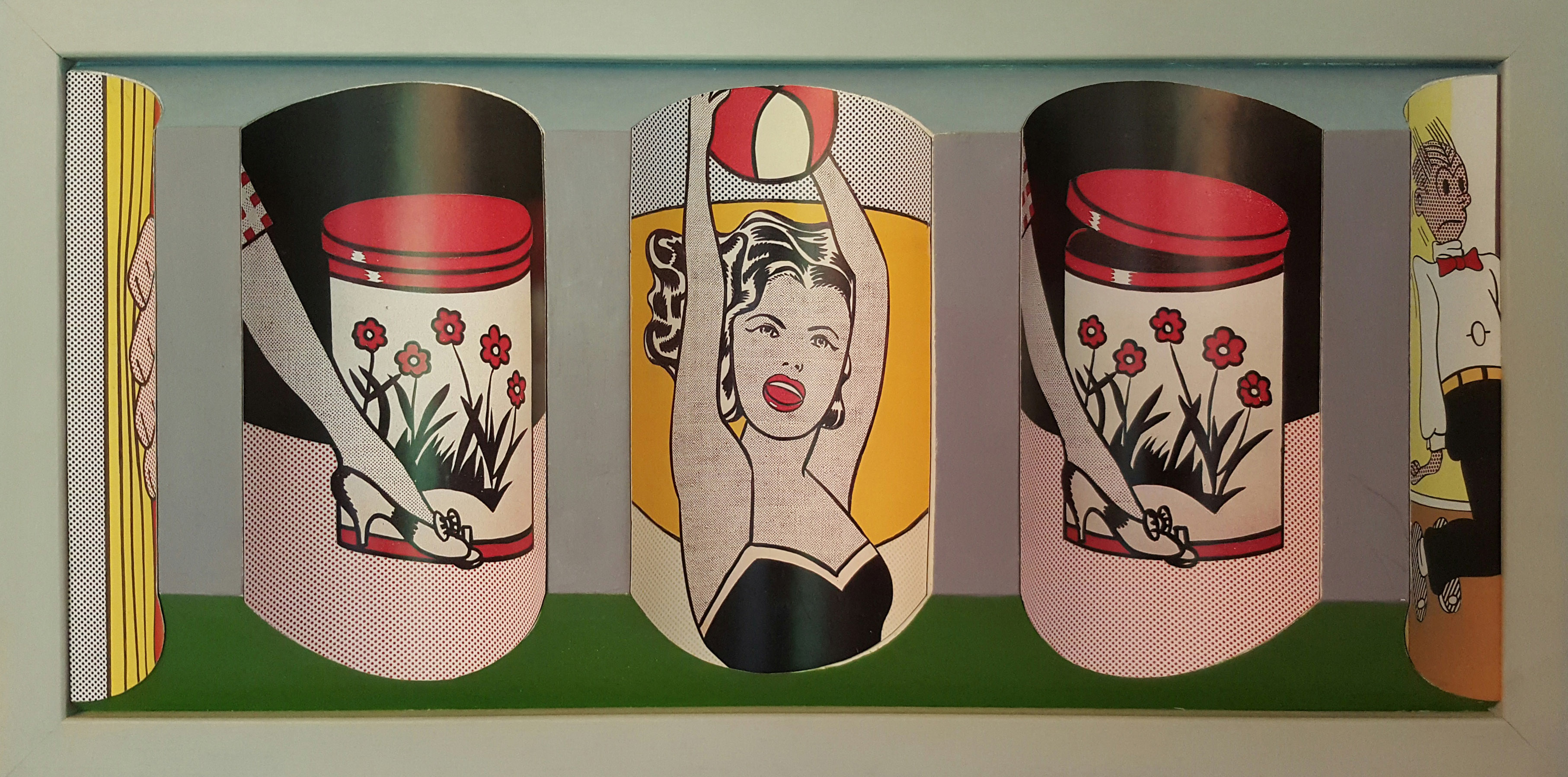 Homage to Roy Lichenstein reverse perspective art