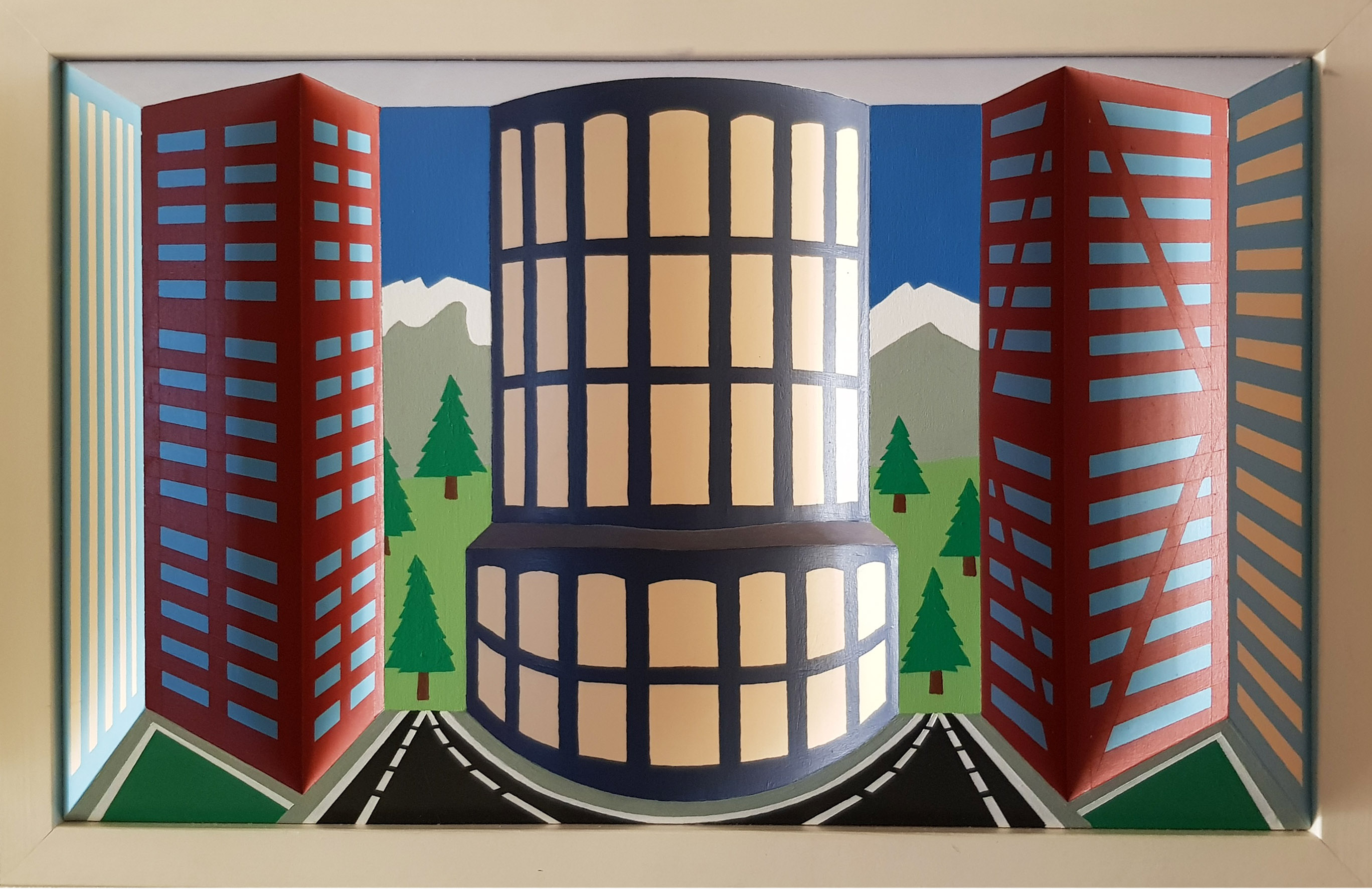 The Rotunda Tower Block 3D art by Brian Weavers
