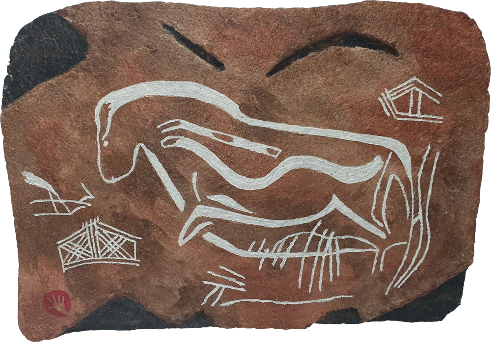 cave painting no2 by Brian Weavers