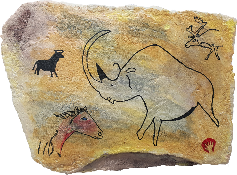 cave painting no3 by Brian Weavers