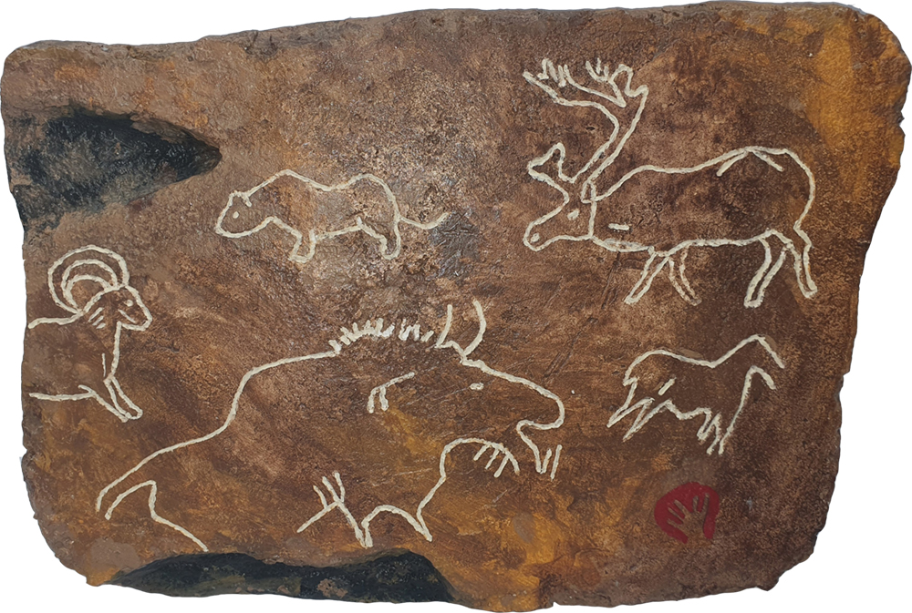 cave painting no4 by Brian Weavers