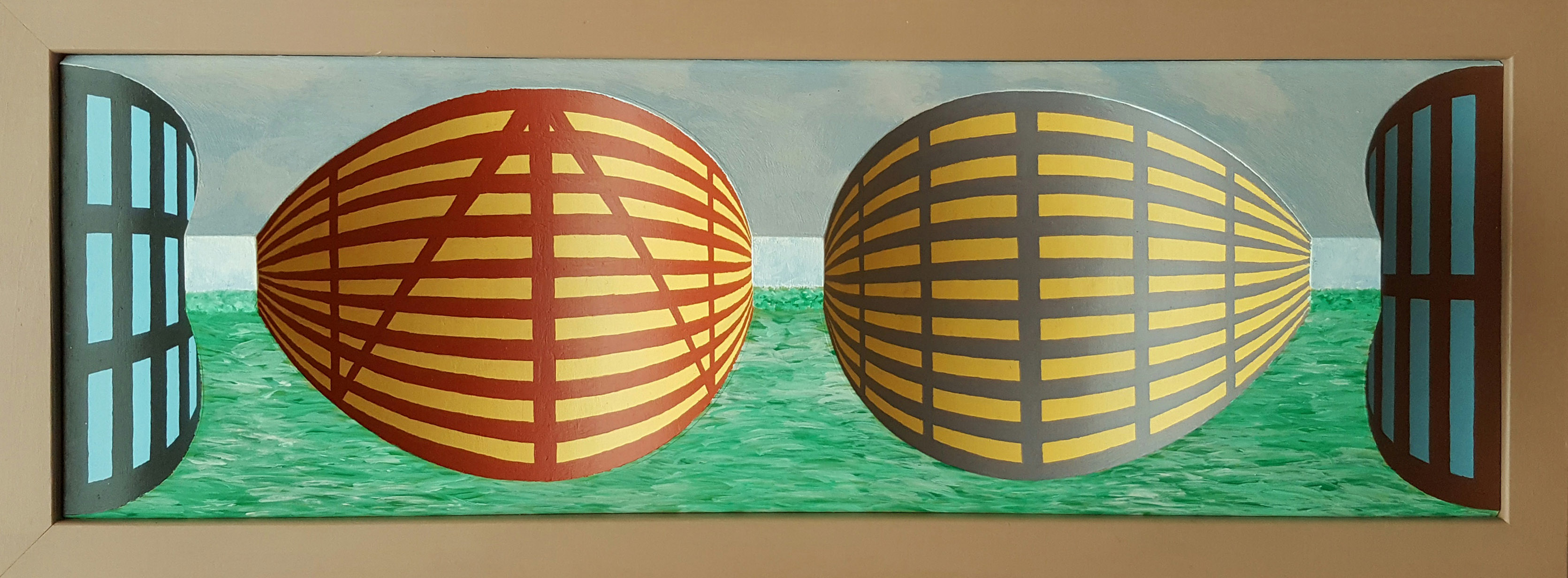Lagoon Tower Blocks reverse perspective art